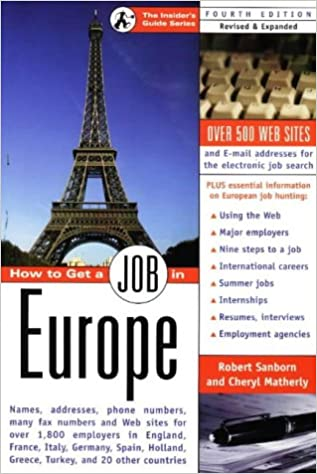 Book How to Get a Job in Europe (Insider's Guide Series)