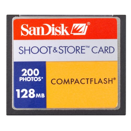 Sandisk 128MB Shoot and Store Cf Card