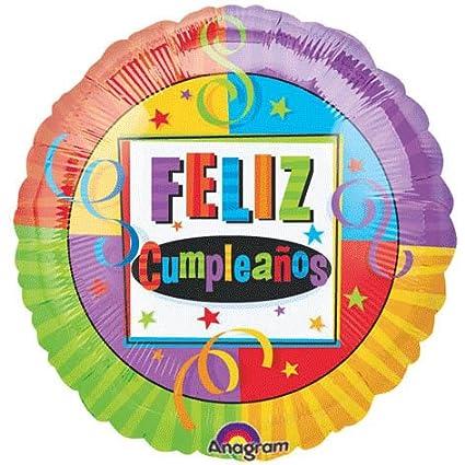 Amazon.com: Colorful Feliz Cumpleanos Birthday 18