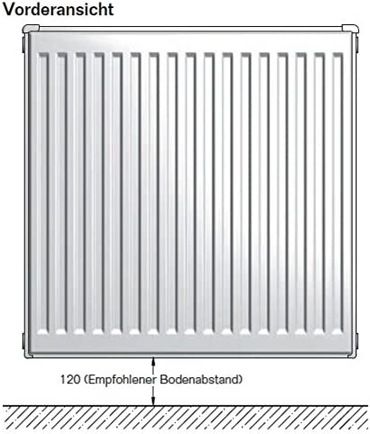 Buderus Kompaktheizk/örper Typ 22 500 x 800 H/öhe x Breite in mm C-Profil Kompakt Heizk/örper Flachheizk/örper