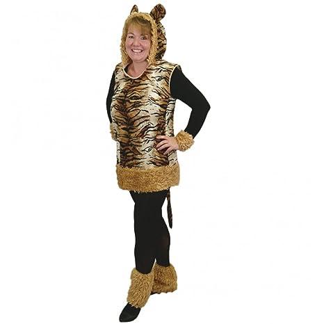 """Traje de tigre Señora """"Leyla"""", talla XL,, vestido con puños"""