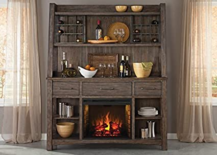 Superbe Liberty Furniture Stone Brook Dining Hutch U0026 Buffet, Rustic Saddle Finish