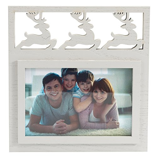 BingYes Wood Picture Frame, Elk Element, Matted for 4x6 Inch Photo, Perfect for Wedding, Offices, Restaurants, Business,Bedroom (86W)