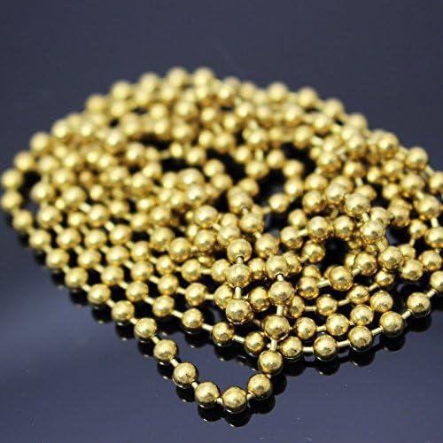 2/m gemischt 1,5/mm /& 3.3/mm Fliegenbinden Kupfer Bead Kette Augen Golden Fly Angeln Binden Perlen Zubeh/ör Materialien