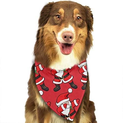 BAGT Dog Bandana Christmas Costume Pet Funny Dabbing Santa Claus Christmas Dab Scarf Cat Bandana for Christmas ()