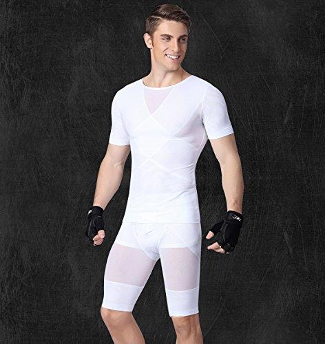Compression De Gilet Ahatech Shaper Maillot Débardeur Musculation Gym Corps Fitness Ventre Homme xgtgA0qwO