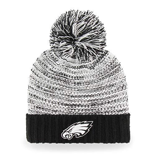 (OTS NFL Philadelphia Eagles Female Sansa Cuff Knit Cap, Black, Women's)