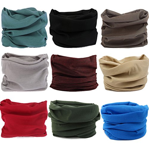 NEXTOUR Neck Gaiter, Magic Headband Sport Headwear Elastic Face Mask Bandana Scarf UV Resistence Balaclava, Headwrap Helmet Liner for Men and Women - Cycling, Fishing, Running, Hiking, Camping