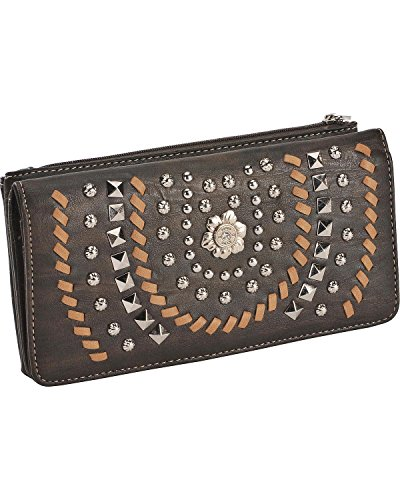 Montana West Women's Coffee Horseshoe Wallet Brown One Size