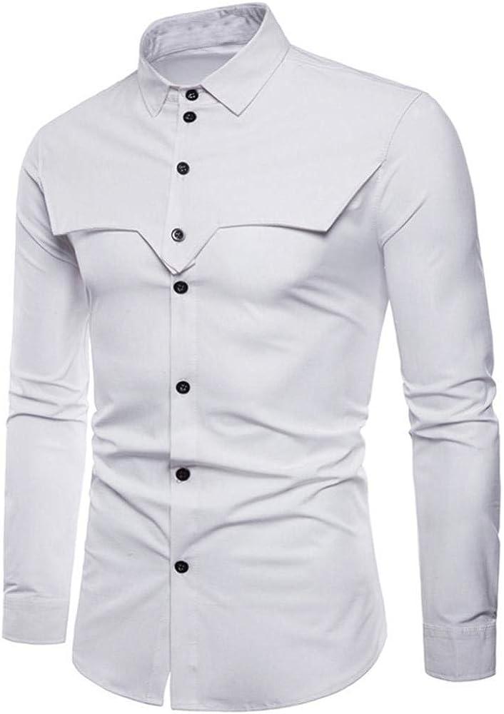 Camisa De Manga Corta De Manga para Camisa Corta Hombre Ropa Festiva para Hombre Camisa De Manga Larga para Hombre Camisa De Manga Larga para Hombre Camisa De Manga Larga (Color :