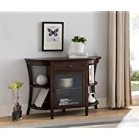 Kings Brand Walnut Finish Wood Entryway Console Sofa Storage Buffet Table