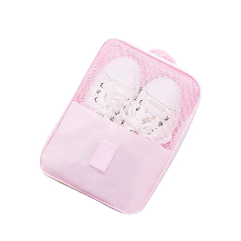 SHZONS Shoe Bags for Travel,Travel Accessories Shoe Bags Transparent Waterproof Packing Cubes Luggage Organizer with Zipper for Toiletry,Gym,Laundry