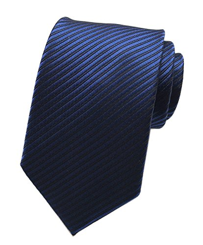 Elfeves Mens Royal Blue Woven Silk Tie Formal Fashion Thanksgiving Dress Necktie