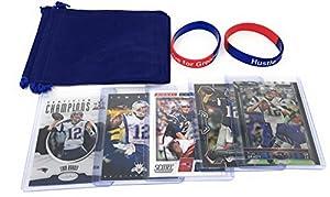 Tom Brady Football Card Gift Bundle - New England Patriots