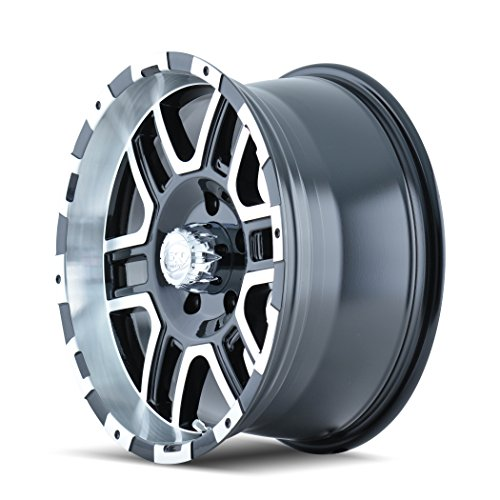 Ion Alloy 179 Black Wheel with Machined Face and Lip (18x9''/8x170mm) by ION (Image #2)