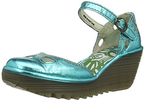 Closed Pumps Turquoise Women's Fly Yuna London Toe tXP1Pw