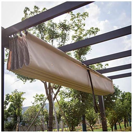 Garden and Outdoor KINTNESS 10x10ft Outdoor Patio Pergola Garden Gazebo Heavy Duty Grape Canopy Metal Frame Beach Sunshade Trellis Tent for… pergolas