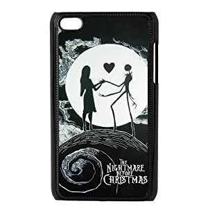 Customize Generic Hard Plastic Shell Phone Cover The Nightmare Before Christmas Back Case Suitable For iPod 4 Touch 4th Generation
