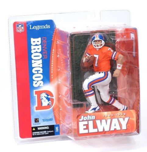 McFarlane Toys NFL Sports Picks Legends Series 1 Action Figure John Elway (Denver Broncos) White Jersey Variant