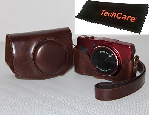 """TechCare """"Ever Ready"""" Protective Leather Camera Case Bag for Canon PowerShot SX720 HS Canon PowerShot SX710 HS Digital Camera (Dark Brown), Canon PowerShot SX710 HS case, Canon SX720 case -  BCDigital, CNPWSX710DBRWN"""