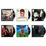 David Bowie Six Album Covers Stamp Set Collectible Postage Stamps Royal Mail 2017