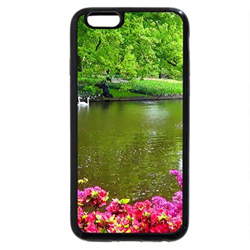 iPhone 6S / iPhone 6 Case (Black) Swans and rhododendrons