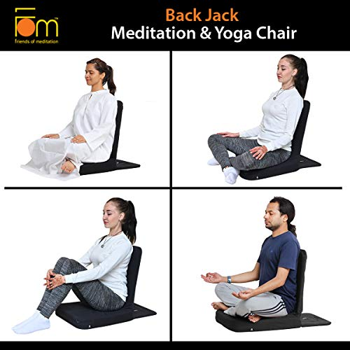 Friends Of Meditation Back Jack Meditation Chair TM (Black