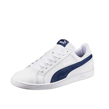 Puma Smash L Sneaker weiß / schwarz weiß / blau, Größe:38.5= UK