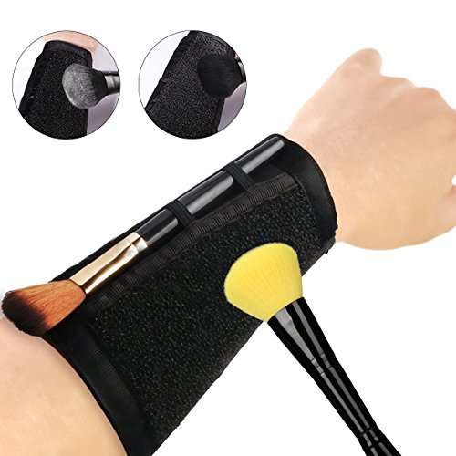Rapid Makeup Brush Cleaner Sponge Armband Strap, Eye Make Up Color Removal, Quickly Remove and Switch Eyeshadow Blush Color Dry Clean (Changer Makeup Color)