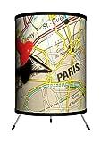 Lamp-In-A-Box TRI-TRV-PMPAR Travel - Pin Map Paris Tripod Lamp