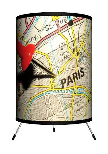 Lamp-In-A-Box TRI-TRV-PMPAR Travel - Pin Map Paris Tripod Lamp by Lamp-In-A-Box