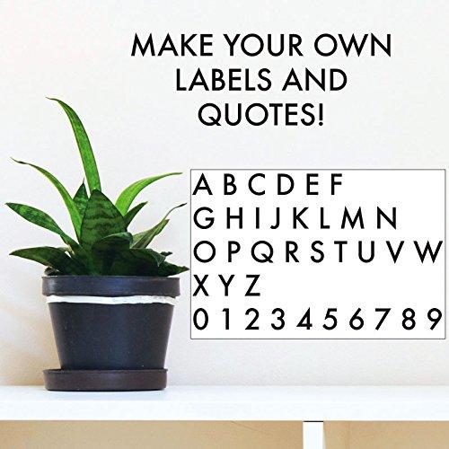 Assorted Alphabet & Number - Black - Vinyl Wall Art Decal for Homes, Offices, Kids Rooms, Nurseries, Schools, High Schools, Colleges, Universities