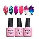 AIMEILI Soak Off UV LED Gel Nail Polish Multicolor/Mix Color/Combo Color Set Of 6pcs X 10ml - Kit Set 8