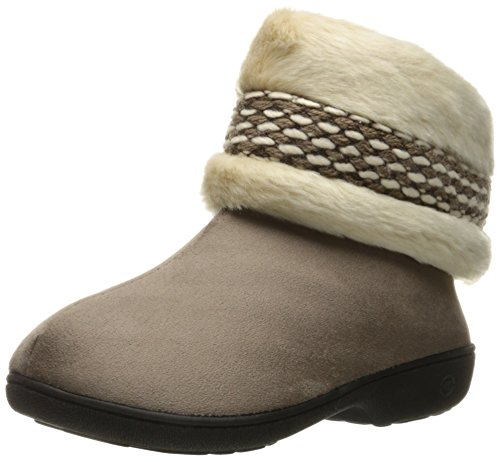Isotoner Kvinnors Erica Micro Boot Tofflor Rökig Taupe