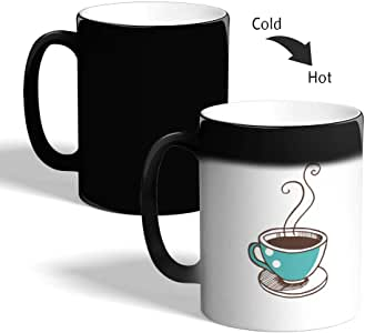 A cup of coffee Printed Magic Coffee Mug, Black