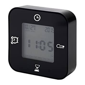 Despertador de dormitorio, Protmex EM1203A Reloj Digital LCD Monitor 4 IN 1 Despertador Horas, Calendario / Temporizador ...