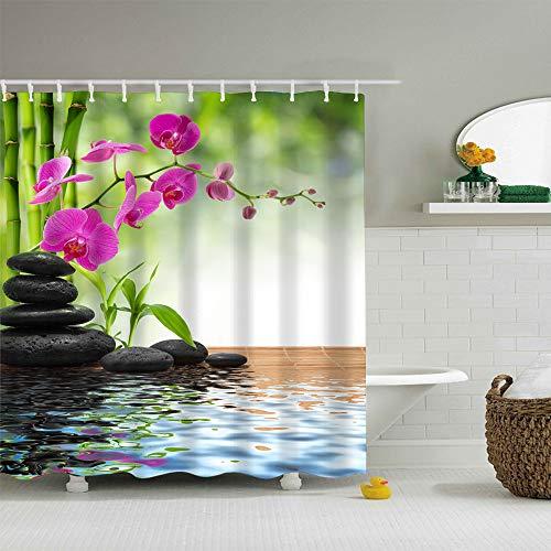 Finedayqi  Digital Printing Creative Scenery Shower Curtain