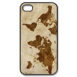 Vintage World Map Art Iphone 4/4s Case by mcsharks