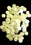 St Patrick's, Mardi Gras, Metallic Gold Plastic Doubloons/ Coins, 1 Bag (144 pcs), 1.5''