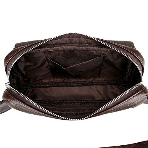 Bolsa De Hombre Yy.f Diagonal Del Paquete Las Nuevas Bolsas De Cuero De Marca Bolsos Hombres Multifunción Bolso Casual Y Sencilla De 2 Colores Black