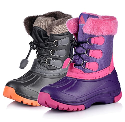 Nova Mountain Little Kid's Winter Snow Boots,NF NFWB03 PurpleFuchsia 9