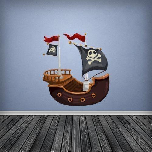 2 opinioni per A Pieni Colori Nave Pirata Cameretta Ragazzi Stanza Bebè Adesivo Da Parete