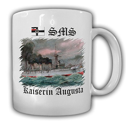 (Ship SMS Kaiserin Augusta Panzerdeckkreuzer Protected cruiser Imperial naval cruising Corvette - Coffee Cup Mug)