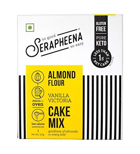 Serapheena Almond Flour Cake Mix - Victorian Vanilla, 120 Grams