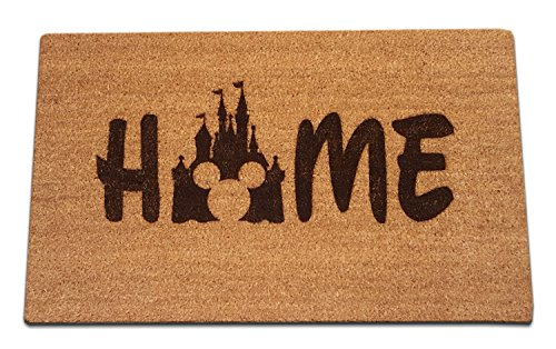 Mickey Mouse Castle Home Laser Engraved Coir Fiber Welcome Doormat 30