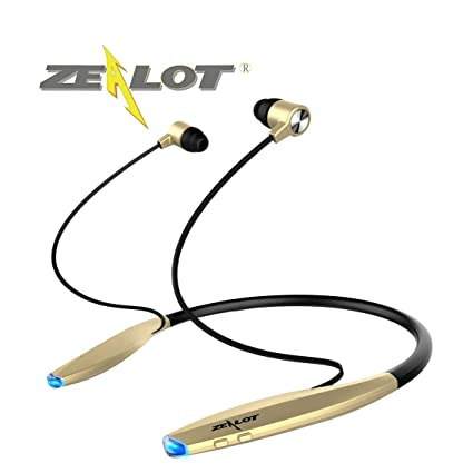 Zealot Sport Bluetooth Headset Earphone H7 Wireless Sweatproof Neckband Design Magnetic Earbuds Vibrator Auriculares cuffie Fones