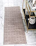 Unique Loom Uptown Collection by Jill Zarin Collection Geometric Modern Light Brown Runner Rug (2' 2 x 6' 0)