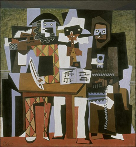 (Gifts Delight Laminated 24x25 Poster Pablo Picasso, 1921, Nous autres musiciens Three Musicians, Oil on Canvas, 204.5 x)