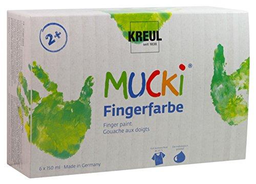 Mucki 2316 - Fingerfarben 6er Set 150 ml