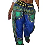 neveraway-women clothes Womens Folk Style Africa Casual Baggy Mulit Color Bechwear Palazzo Beach Pants Four M